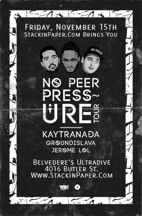 No Peer Pressure Tour: Friday, November 15 @ Belvedere's