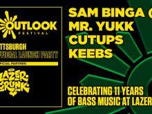 Sat June 29th LAZERCRUNK Outlook Launch Party w/ Sam Binga (UK) + Mr. Yukk @ Brillobox